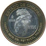 100 Pesos (Chiapas) – revers