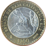 100 Pesos (BAJA CALIFORNIA SUR) – revers