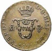 "¼ Real ""Señal"" - Fernando VII (monnaie coloniale) – avers"