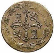 """¼ Real """"Señal"""" - Fernando VII (monnaie coloniale) – revers"""
