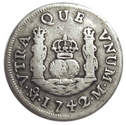1 Real - Philip V (Colonial Milled Coinage) – revers