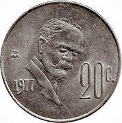 20 centavos Madero -  revers