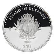 10 Pesos (Durango - Silver Proof Issue) -  revers