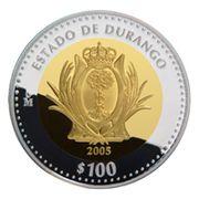 100 Pesos (Durango - Gold & Silver Proof Issue) -  revers