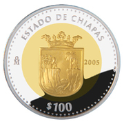 100 Pesos (Chiapas - Gold & Silver Proof Issue) – revers