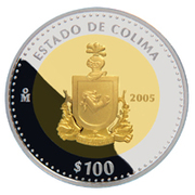 100 Pesos (Colima - Gold & Silver Proof Issue) – revers