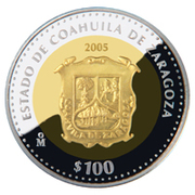 100 Pesos (Coahuila - Gold & Silver Proof Issue) – revers