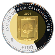 100 Pesos (Baja California Sur - Gold & Silver Proof Issue) – revers