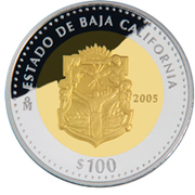 100 Pesos (Baja California - Gold & Silver Proof Issue) – revers