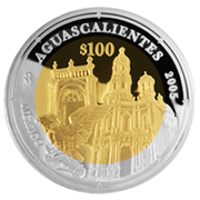 100 Pesos (Aguascalientes - Gold & Silver Proof Issue) – revers