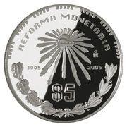5 Pesos (100th Anniversary - Monetary Reform) -  avers