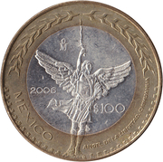100 pesos Mexico City – revers