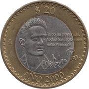 20 pesos Octavio Paz -  revers