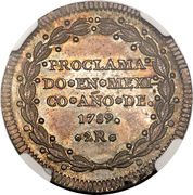 2 Reales - Carlos IV (Proclamation coinage) – revers