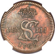 1/16 real - Carlos III (Essai) – avers