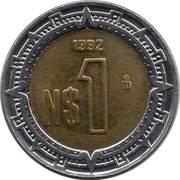 1 nouveau peso -  revers
