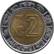 2 nouveaux pesos -  revers