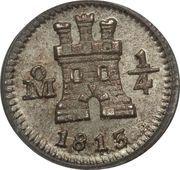 ¼ real - Carlos IV / Ferdinand VII (monnaie coloniale) – avers