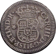 ½ Real - Carlos III (Colonial Milled Coinage) – avers