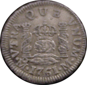½ Real - Carlos III (Colonial Milled Coinage) – revers