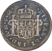 ½ Real - Carlos IV (Colonial Milled Coinage) – revers