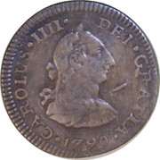 ½ Real - Carlos IV (Colonial Milled Coinage) – avers