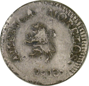 ½ Real (Oaxaca - Insurgent Coinage) – revers