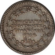 1 Real - Carlos IV (Proclamation coinage) – revers