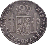 1 Real - Carlos IV (Colonial Milled Coinage) – revers