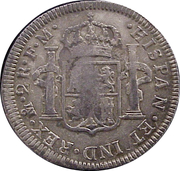 2 Reales - Carlos IV (Colinial Milled Coinage) – revers