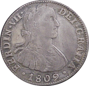2 Reales - Fernando VII (Colonial Milled Coinage) – avers