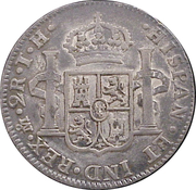 2 Reales - Fernando VII (Colonial Milled Coinage) – revers