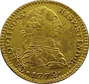 1 Escudo - Carlos III (Colonial Milled Coinage) -  avers