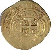 8 Escudos - Luis I (Colonial Cob Coinage) – revers