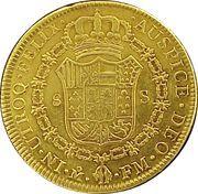 8 Escudos - Carlos IV – revers