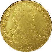 8 Escudos - Carlos IV – avers