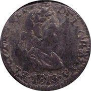 ½ Real - Fernando VII (Durango - Royalist coinage) – avers