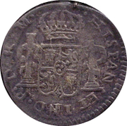 ½ Real - Fernando VII (Durango - Royalist coinage) – revers