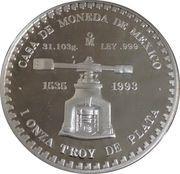 """1 Onza """"Piedra de los Soles"""" (Silver Bullion Coinage) – revers"""