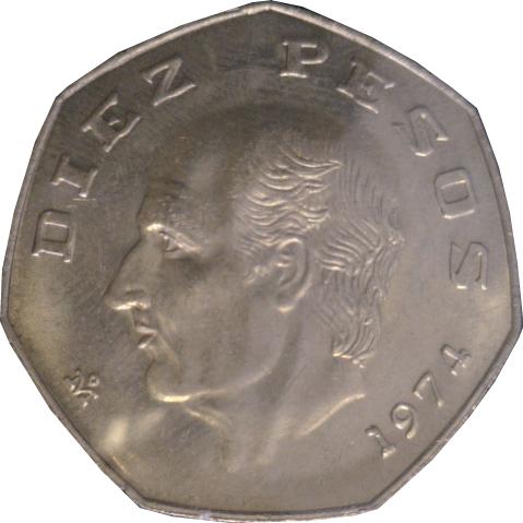 10 Pesos Miguel Hidalgo Mexique Numista