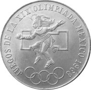 25 pesos - Jeux Olympiques -  revers