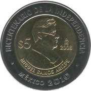 5 pesos Miguel Ramos Arizpe -  avers