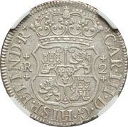 2 Reales - Carlos III (Colonial Milled Coinage) – avers
