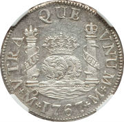 2 Reales - Carlos III (Colonial Milled Coinage) – revers