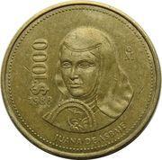 1000 pesos Soeur Juana Ines de la Cruz -  revers