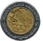 5 nouveaux pesos -  avers