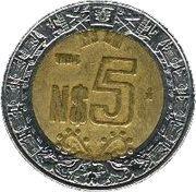 5 nouveaux pesos -  revers