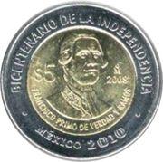5 pesos Francisco Primo de Verdad y Ramos -  avers