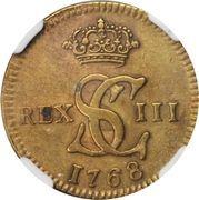 1/16 real - Carlos III (Essai, laiton) – avers