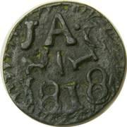 ½ Real, Jola - San Fernando de Bexar – avers